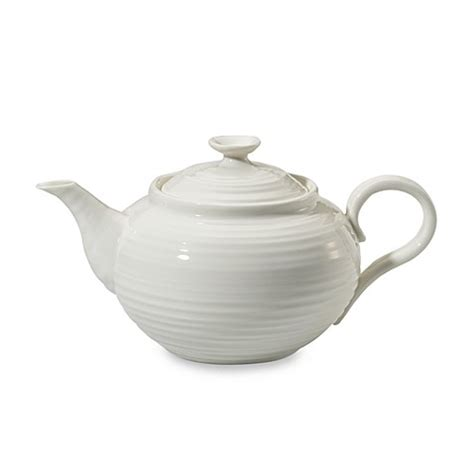 bed bath and beyond teapot sophie conran for portmeirion 174 teapot in white bed bath