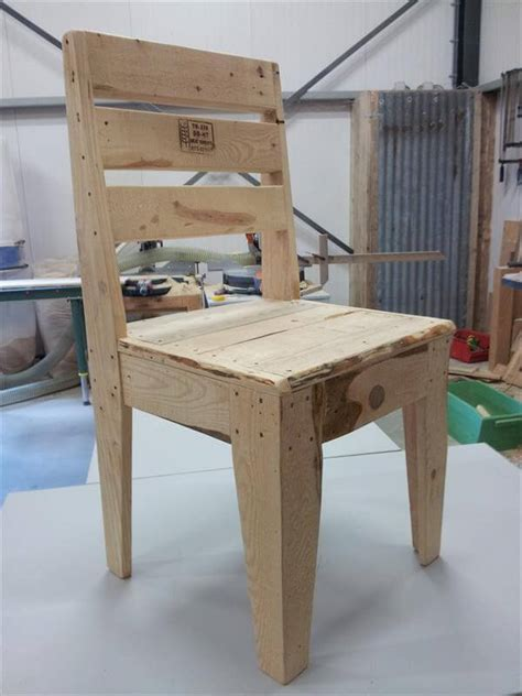 chairs made from wood pallets diy pallet wood chair 99 pallets