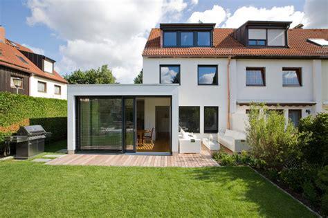 veranda reihenhaus reihenhaus l modern haus fassade m 252 nchen