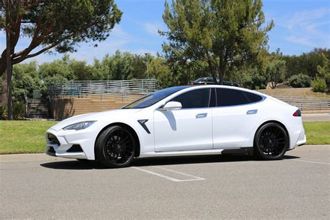 Tesla White White Tesla Model S With Larte Design Elizabeta Kit Looks
