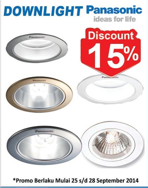 Jual Lu Downlight Panasonic jual lu downlight distributor di medan supplier