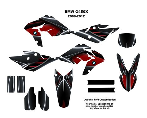 Bmw G450x Sticker Kit by Bmw G450x Dirt Bike Moto Graphic Sticker Kit 8001red Ebay