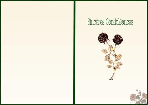 Modèles Cartes Condoléances Gratuites Imprimer carte de condoleances simple a imprimer