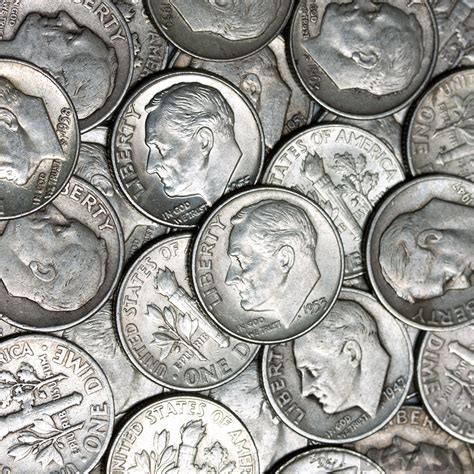 buy 90 silver roosevelt dime roll 50 coins 90 percent silver 90 silver dimes buy gold