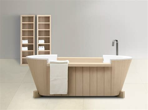 solid wood bathtub freestanding solid wood bathtub norvegia collection by