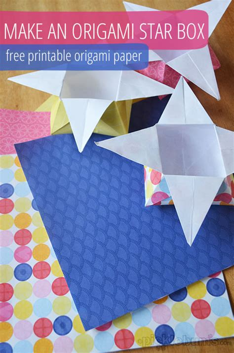 How Do You Make Paper Boxes - origami boxes with printable origami paper picklebums