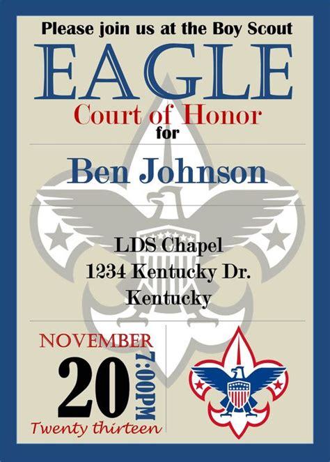 Eagle Scout Invitation Template 1000 images about eagle court of honor on boy