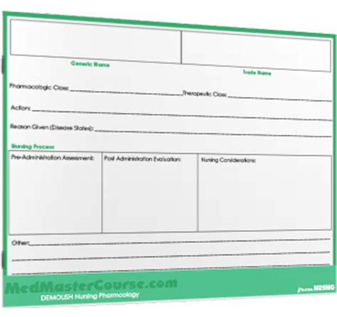 Pharmacology Cards Template by Pharmacology Cards Nursing Students Autos Post