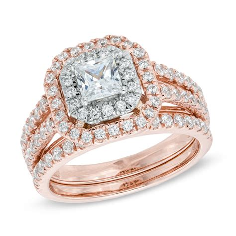 Wedding rings for girls: Two tone gold wedding ring sets