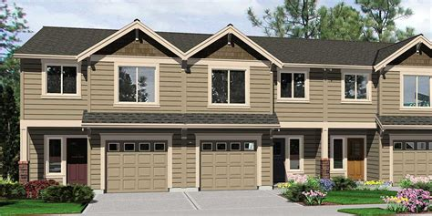 Garage Apartment House Plans triplex house plans 4 plex plans quadplex plans