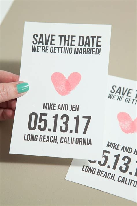 how to make your own save the date cards make your own thumbprint save the dates free