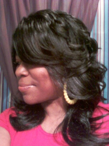 feathered bob for black women long layered and feathered wig hairstyle for black women
