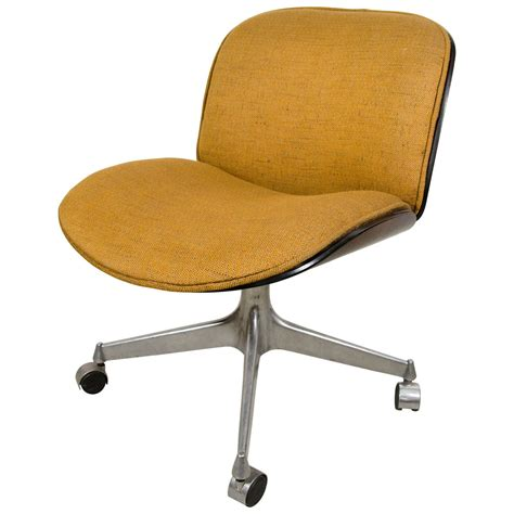 fabric desk chairs ico parisi desk chair with fabric seat for mim at 1stdibs