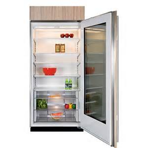 Sub Zero Refrigerator With Glass Door Sub Zero Bi 36rg O Lh 36 Quot Built In All Refrigerator Overlay Glass Door Left Hinge