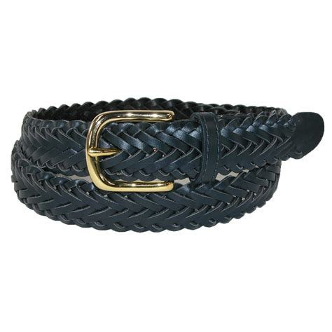 boys leather braided dress belt by aquarius
