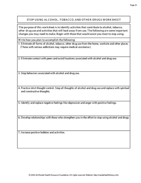 Detox Worksheets by And Addiction Worksheets Pictures To Pin On