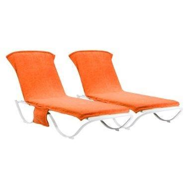 chaise lounge cover towel outdoor patio orange chaise lounge towel cover set of 2
