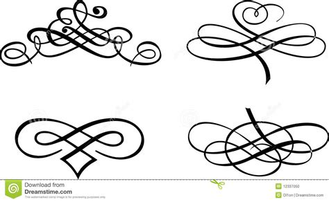 four baroque curves stock photo image 12337050