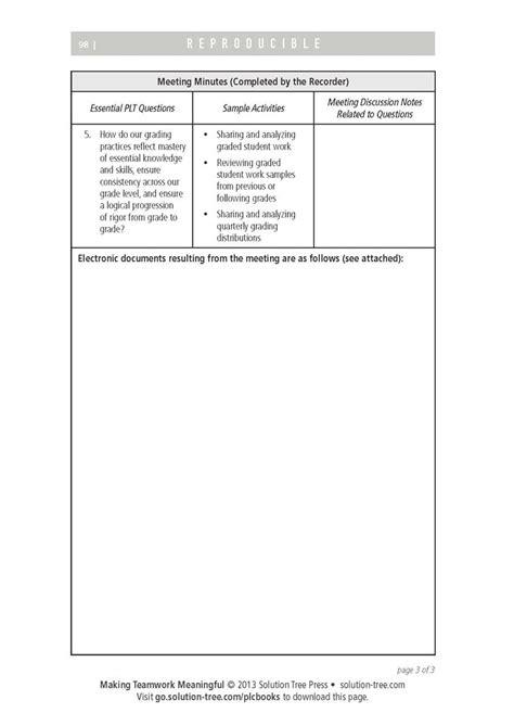 plc meeting agenda template 43 best plcs team meetings images on