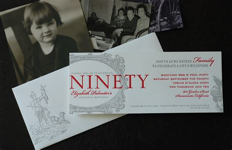 Richie Sent Out Invitations by 90th Birthday Invitation