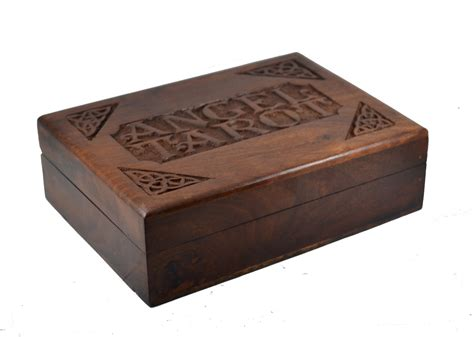 card box large wooden craved card box mystic wish