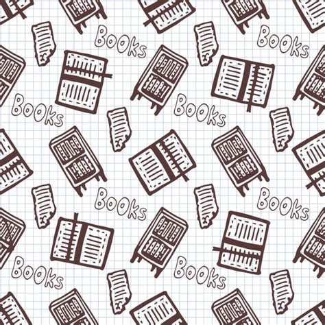 svg pattern library hand drawn seamless pattern with books and bookcase
