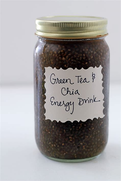 energy drink tea green tea and chia energy drink in sonnet s kitchen