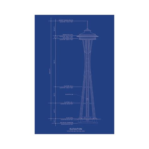 blueprint seattle space needle blueprints touch of modern