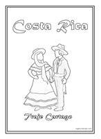 colorear símbolos patrios de Costa Rica - Jugar y Colorear