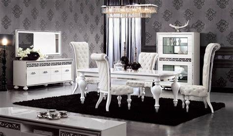 salon clasico moderno en blanco  negro home
