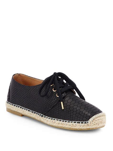 joie sneakers joie hemlock crocprint leather espadrille sneakers in