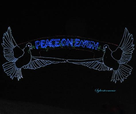 peace on earth christmas lights photography by