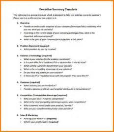 Management Summary Exle by Project Executive Summary Exle Thebridgesummit Co