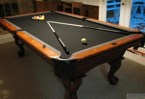 beautiful 8 kasson maple pool table black felt atlanta ebay