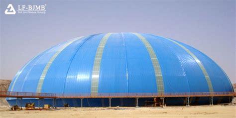 saudi rcc stack bulk storage shed space frame project