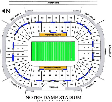 notre dame stadium bench seat notre dame football seating chart vipseats notre