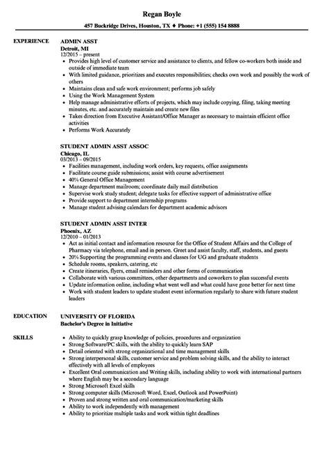 Admin Asst Resume by Admin Asst Resume Sles Velvet