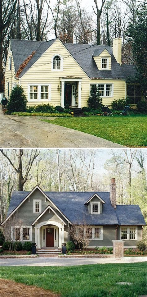 house facade renovation before and after small house before and after great exterior renovation before afters pinterest