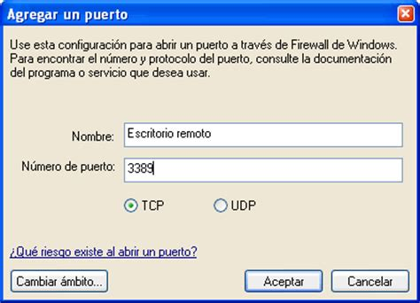 puerto escritorio remoto acceso remoto a tu pc taringa
