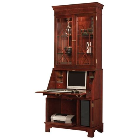 computer secretary armoire traditions painted computer secretary with hutch wayfair