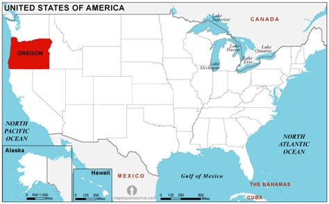 where is oregon located on the map oregon location map location map of oregon state usa