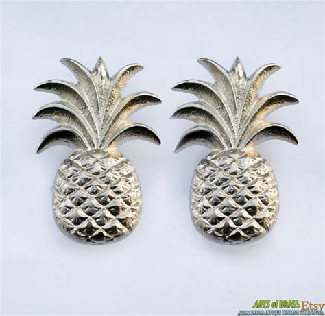 Pineapple Drawer Pulls by Lot Of 2 Pcs Pineapple Fruits With Chrome Finishing Cabinet