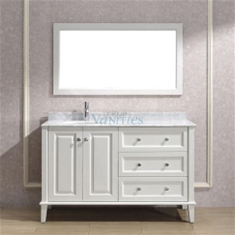 55 inch single sink bathroom vanity with choice of top in