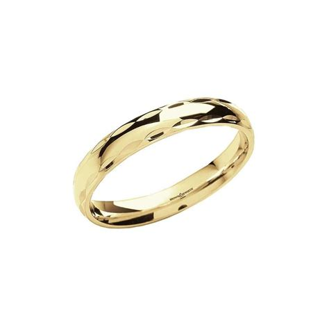 brown newirth 18ct yellow gold patterned edge wedding ring ladies from goodwins jewellers uk