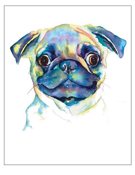 watercolor pug 10 pug designs and ideas