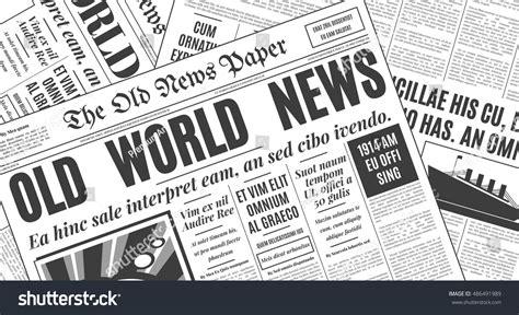 newspaper layout font old white newspaper vintage design retro stock vector