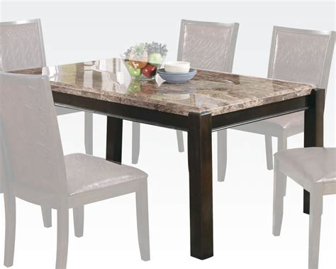 acme marble dining table acme emparedora gray marble top dining table dwayne ac70760