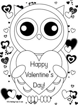 owl valentines coloring pages getcoloringpagescom