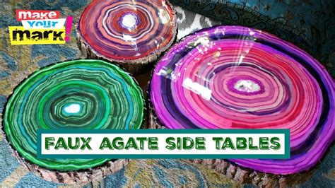faux agate side table faux agate side tables