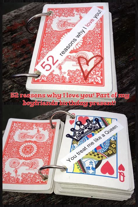 card stuff made my boyfriend a 52 reasons why i you card book
